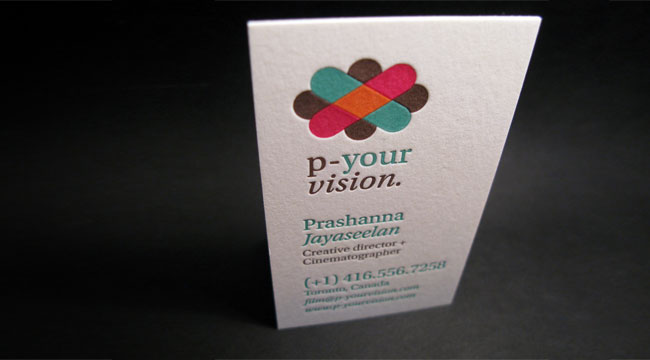 P-Your Vision - cotton business cards