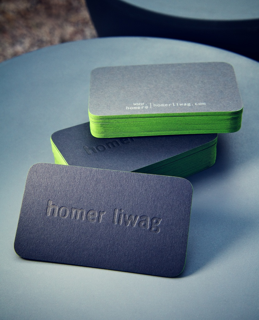 Homer Liwag - rounded corner business cards