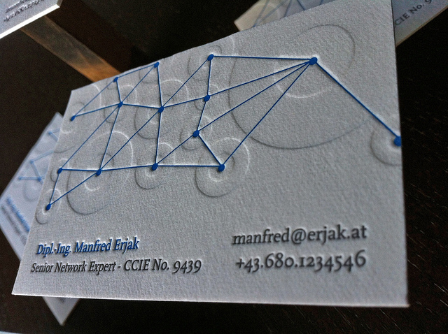 Manfred Erjak - letterpress business card