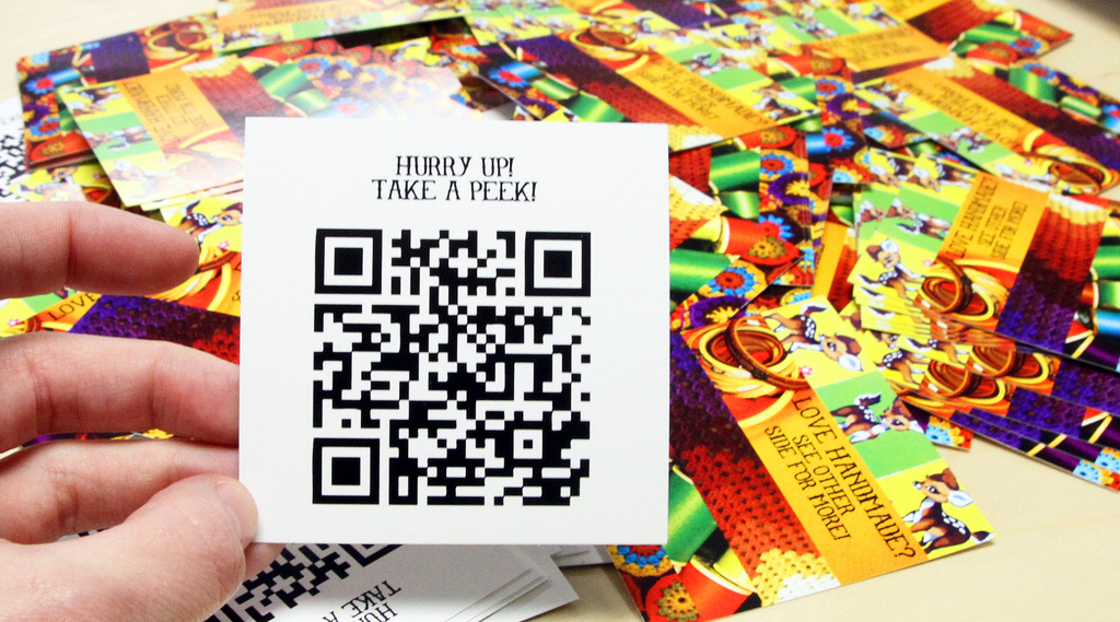Strumpets Crumpets - QR code business card