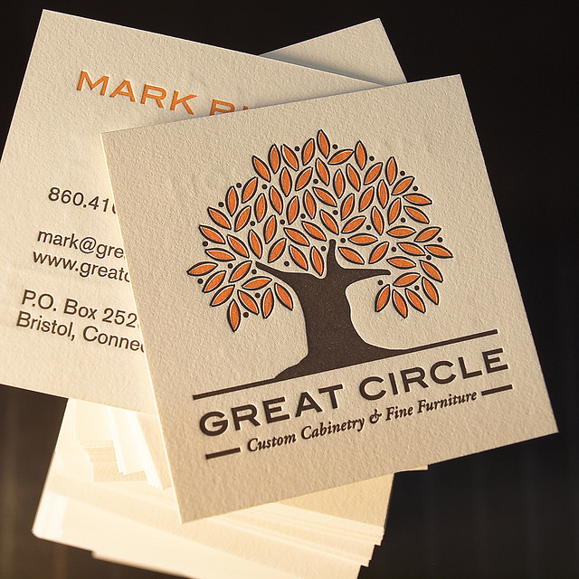 Great Circle - square business cards