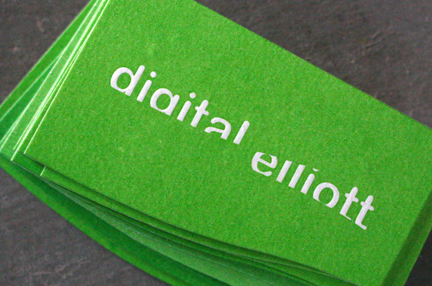 Digital Elliot - die-cut business cards