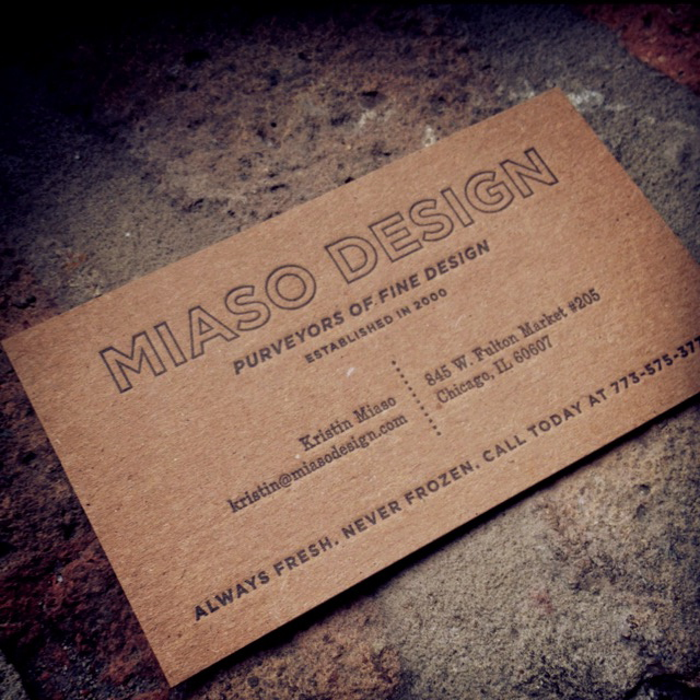 Miaso Design - chipboard business cards