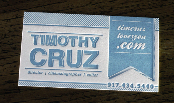 Timothy Cruz - letterpress business cards