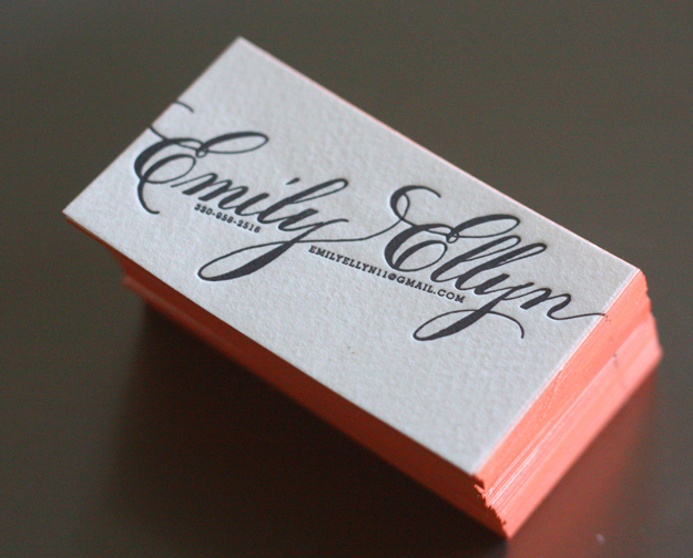 Emily Ellyn - edge painted business card