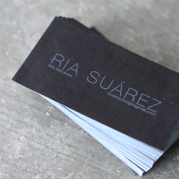 Ria Suaraz - edge painted business card