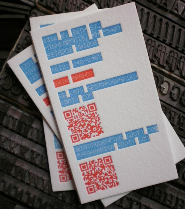 Erik Brandt - letterpress business cards
