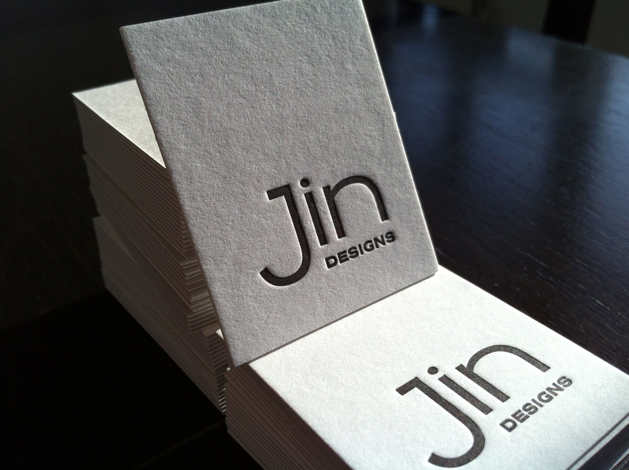 Jin Designs - letterpress business cards