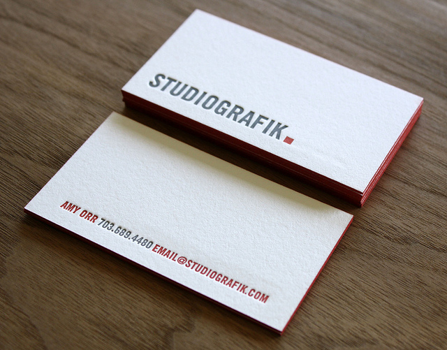 Studio Graphik - letterpress business cards