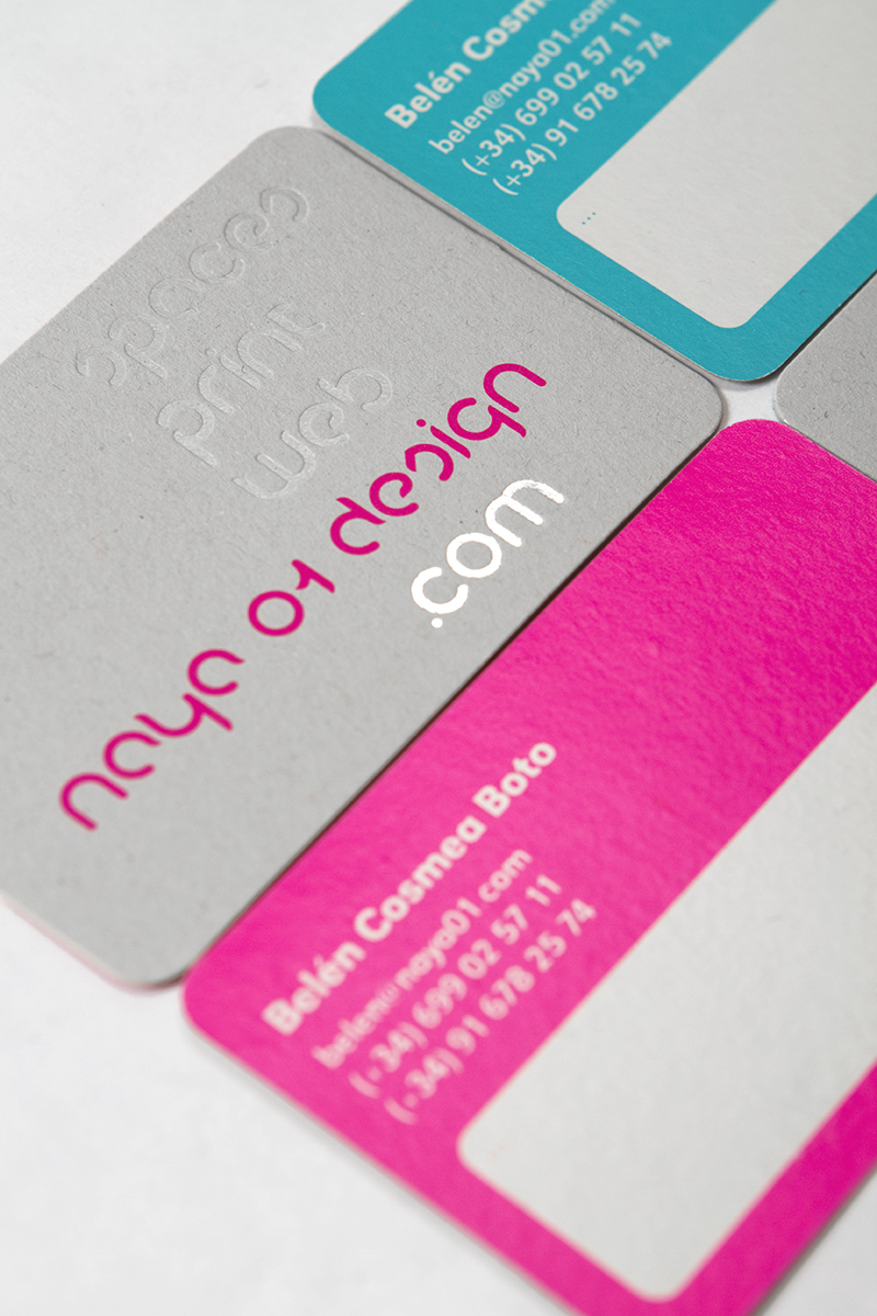 Naya 01 - spot UV varnish business cards