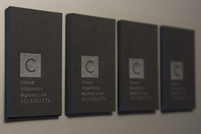 Chase Hagerman - letterpress business cards