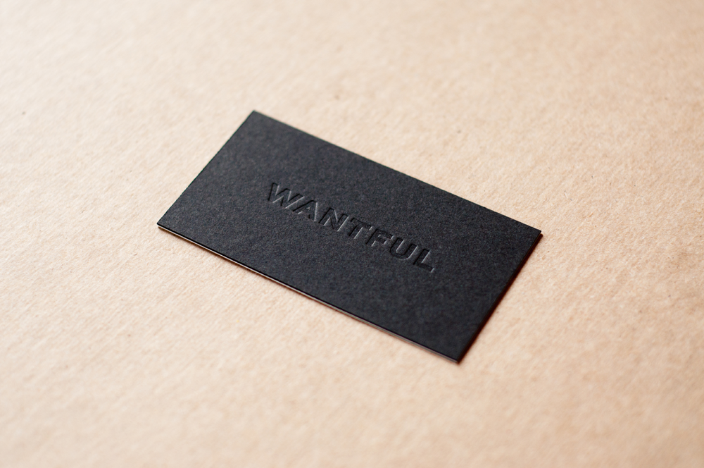 Wantful - deboss business cards