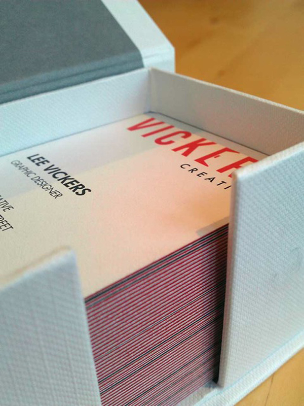 Vickers Creative - laminated business cards