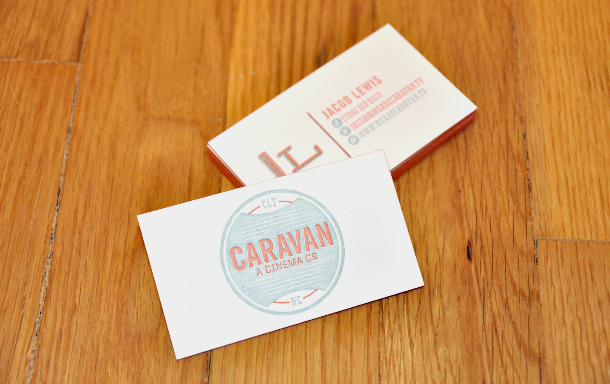 Caravan - edge painted business cards
