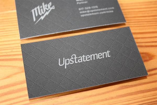 UpStatement - letterpress business card