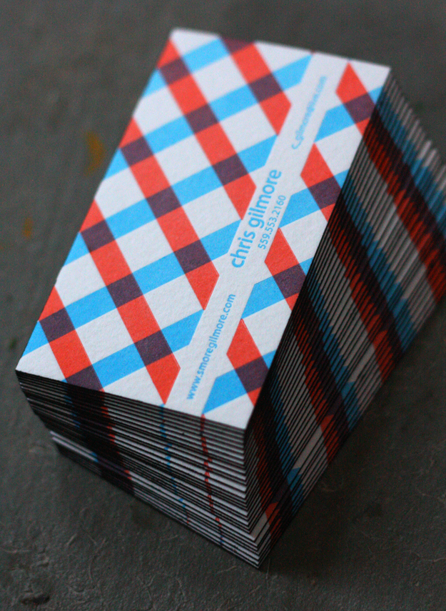 Chris Gilmore - edge painted business cards