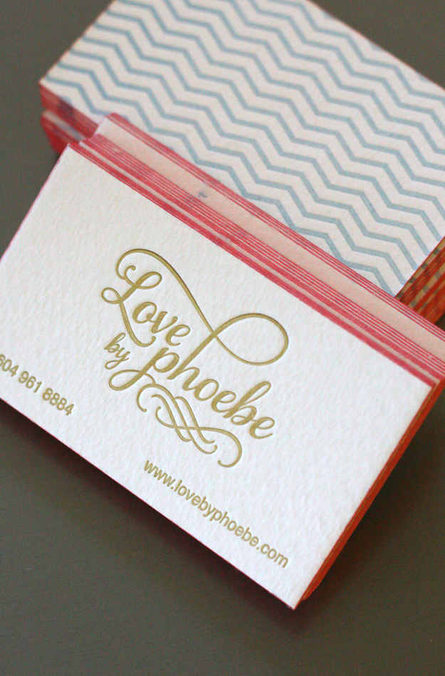 Love Phoebe - letterpress business cards