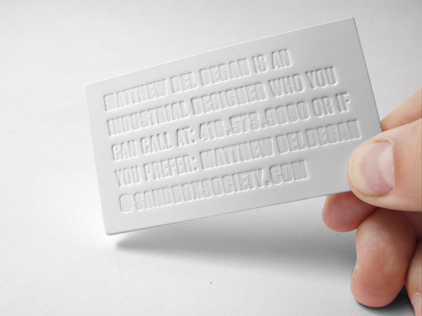 Matthew Del Degan - emboss business cards