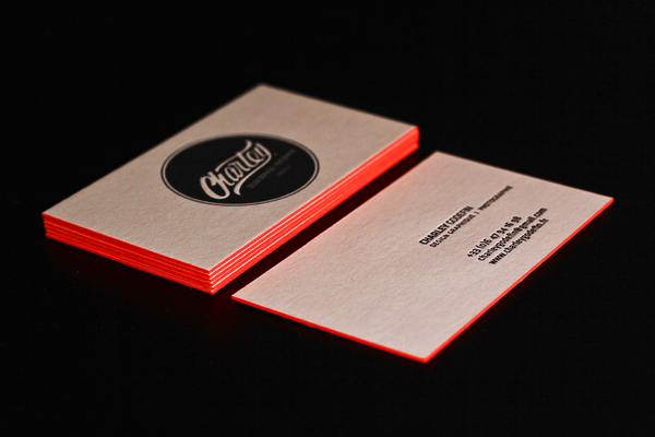 Charley Godefin - edge painted business cards