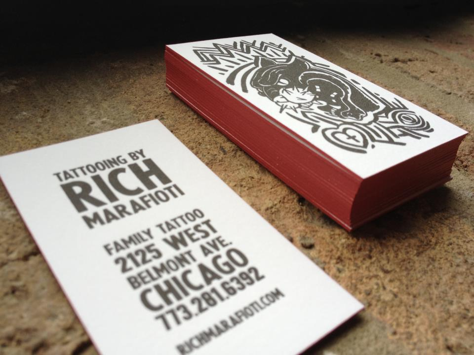 tattoo artist business cards - Skin Arts