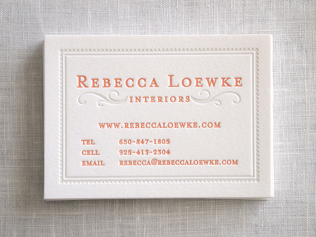 Rebecca Loewke - letterpress business cards