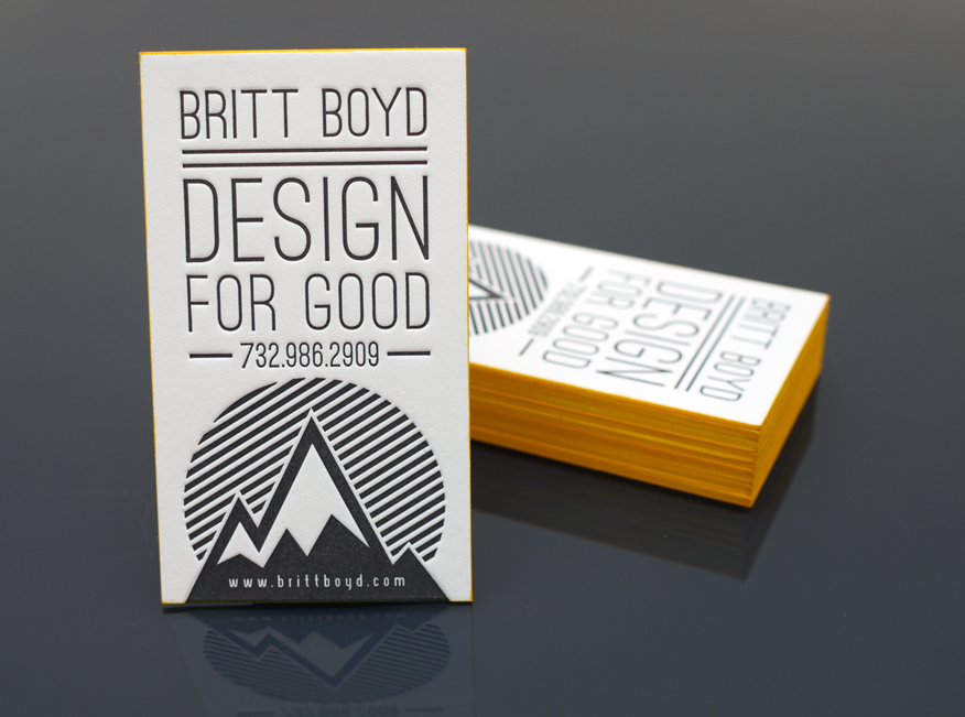Britt Boyd - letterpress business cards