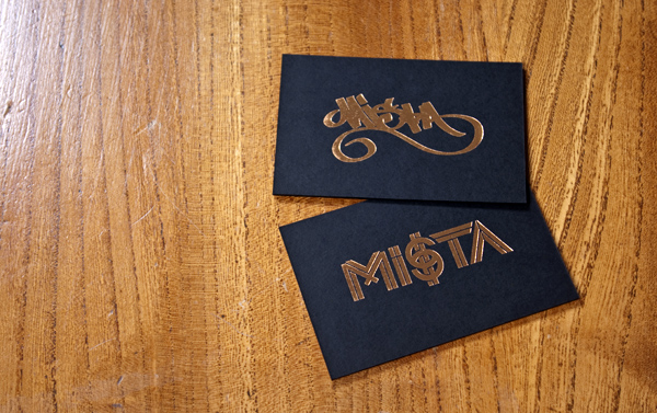 Mi$tA - Ebony business cards