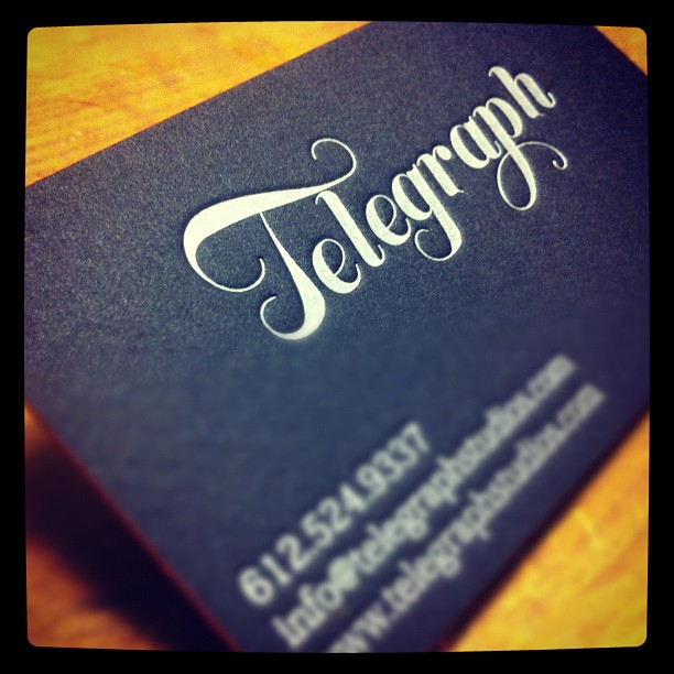 Telegraph - letterpress business cards