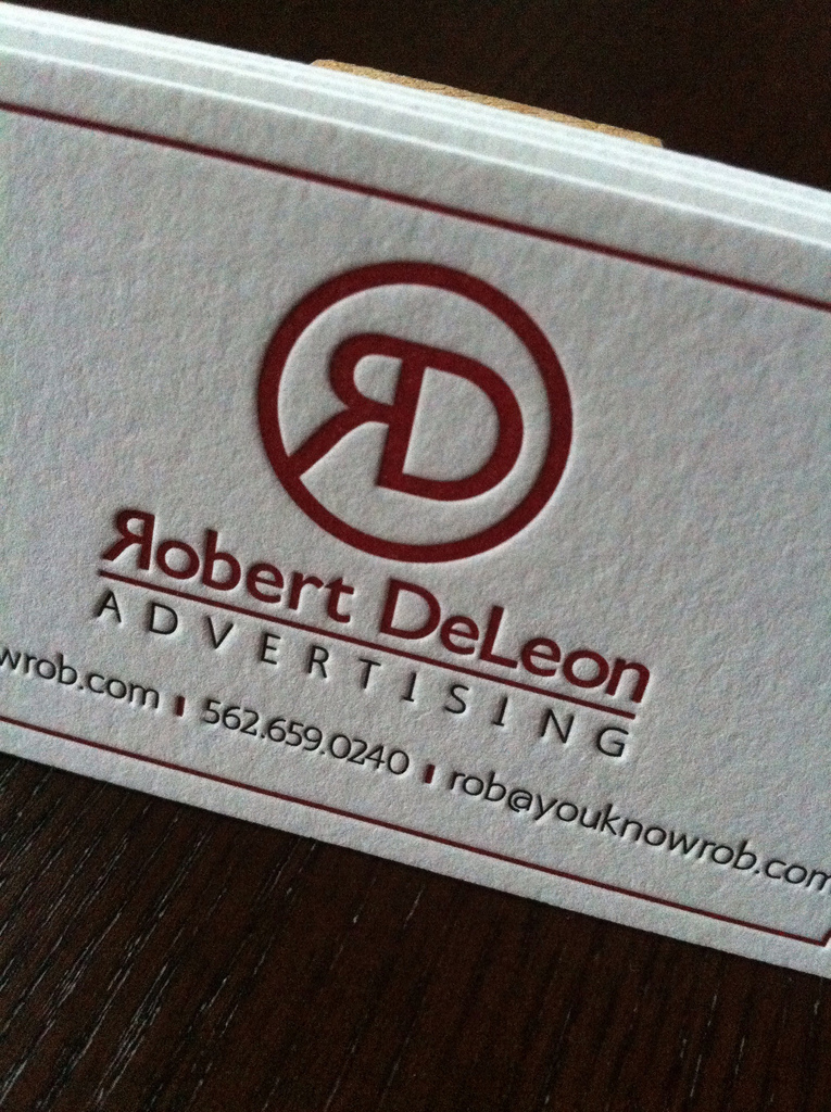 Robbert DeLeon - letterpress business cards