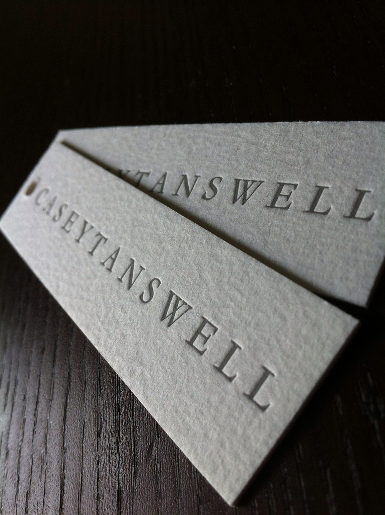 Casey Tanswell - letterpress business cards