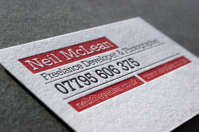 Neil McLean - duplex business cards