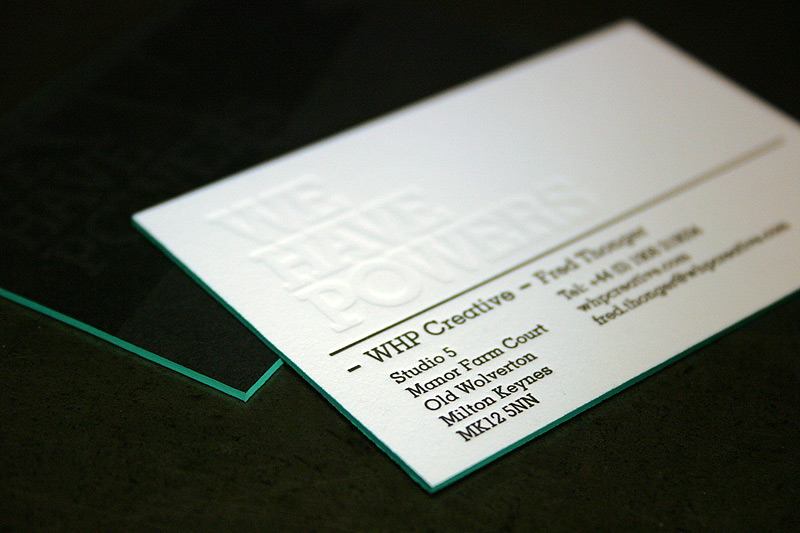 WHP Creative - letterpress business cards