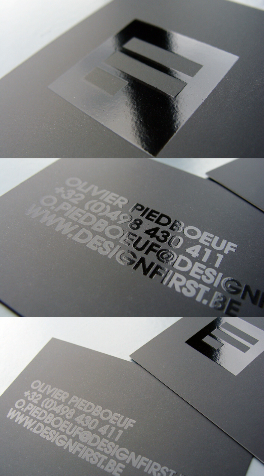 Design First - UV business card
