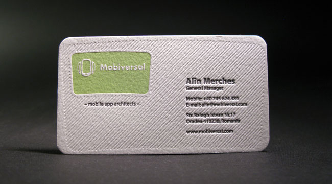 Mobiversal - rounded corner business card