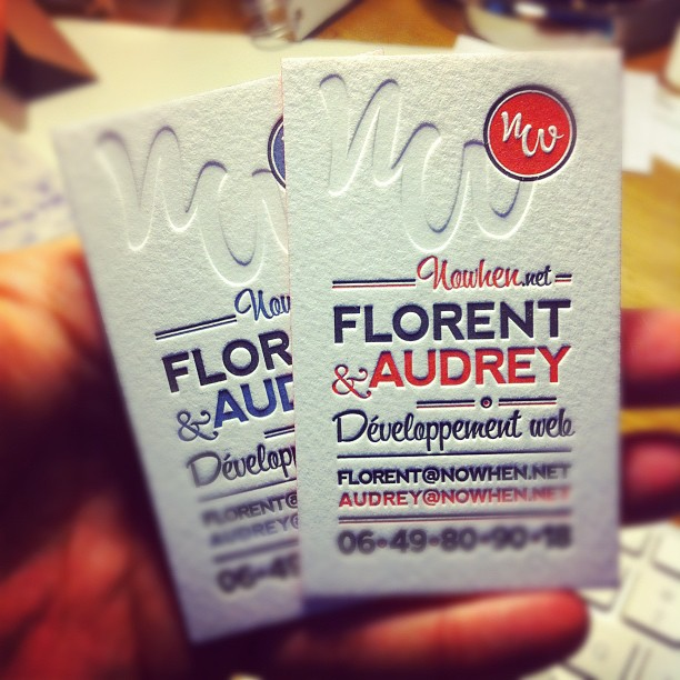 Florent & Audrey - cotton stock business card