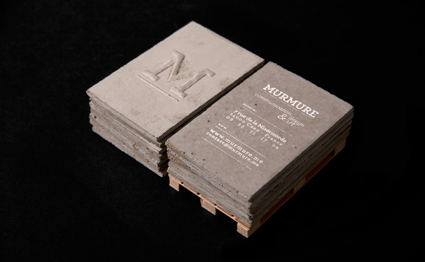 Murmure - concrete business cards
