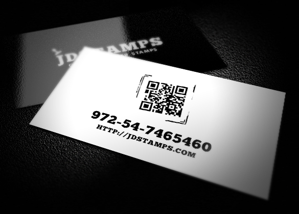 JDstamps - QR code business card