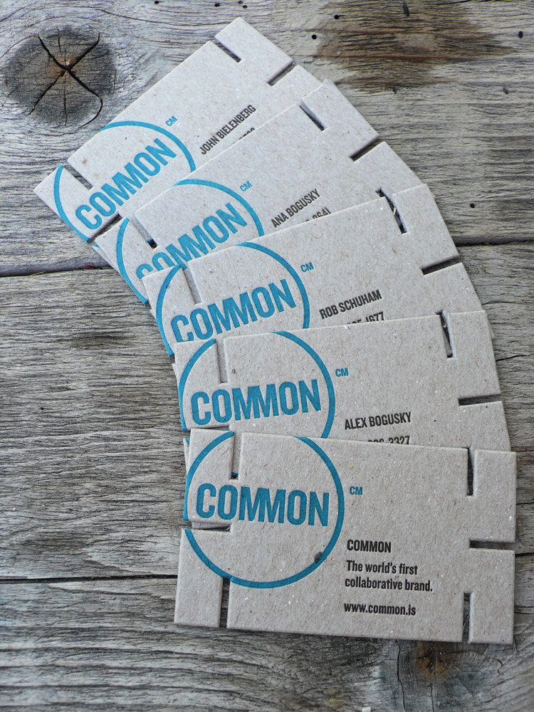 Common - letterpress business cards