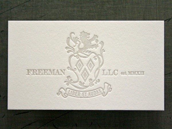 Freeman LLC - duplexed business cards