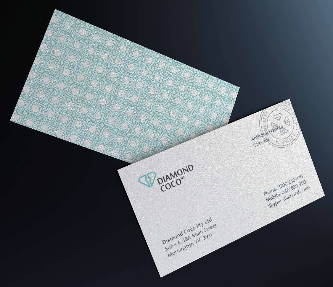 Diamond Coco - business card inspiration