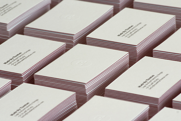 Made By Thomas - letterpress business cards