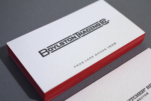 Boylston Trading Co - edge painted business cards