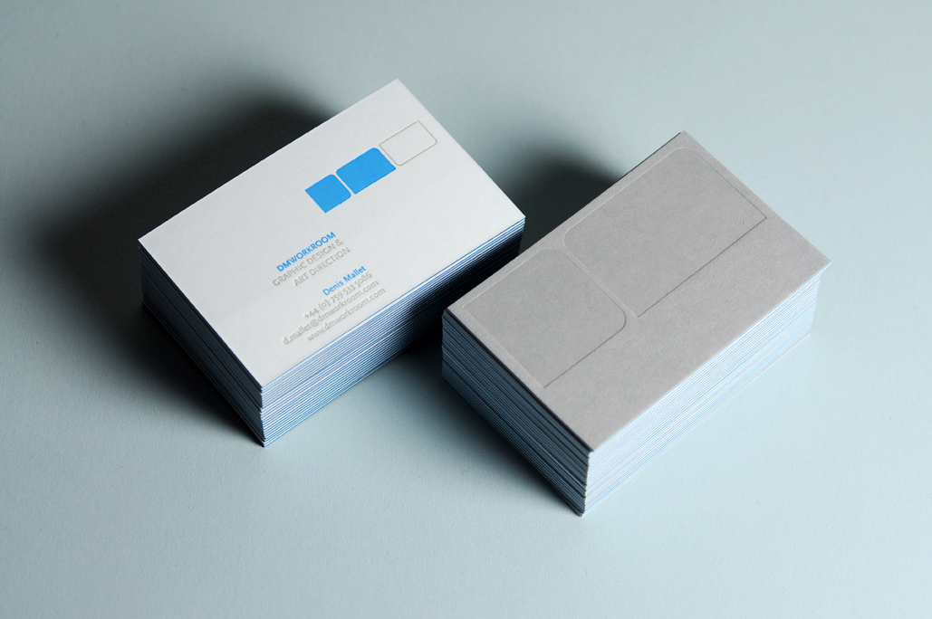 DMWORKROOM - deboss business cards