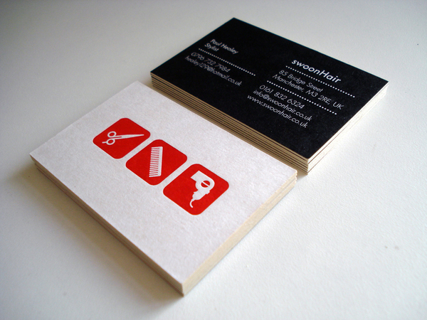 Swoon - letterpress business cards