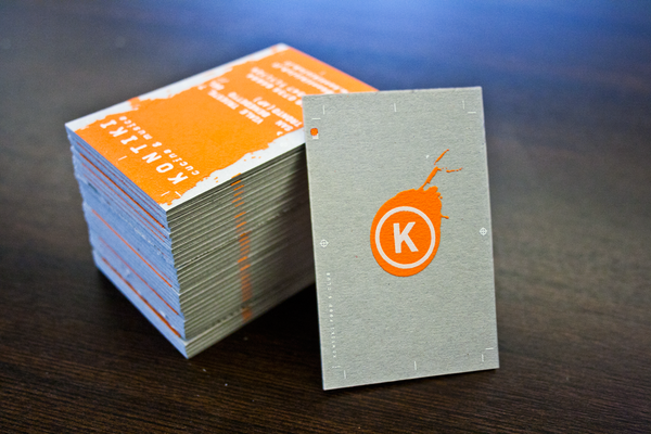 Kontiki - emboss business cards