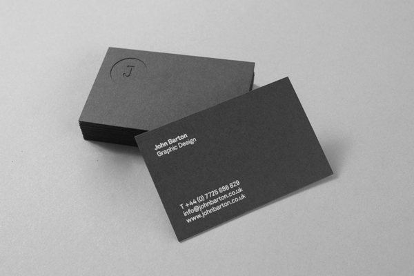 John Barton - deboss business cards