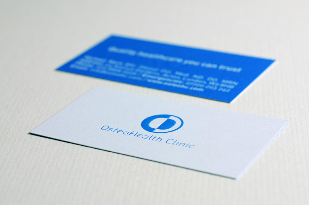 OsteoHealth Clinic - embossed business cards
