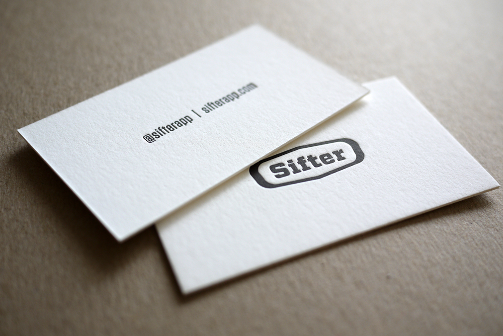 Sifter - letterpress business cards