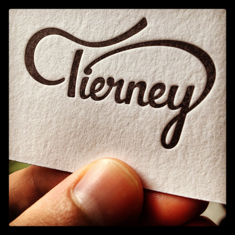 Colin Tierney - edge painted business cards