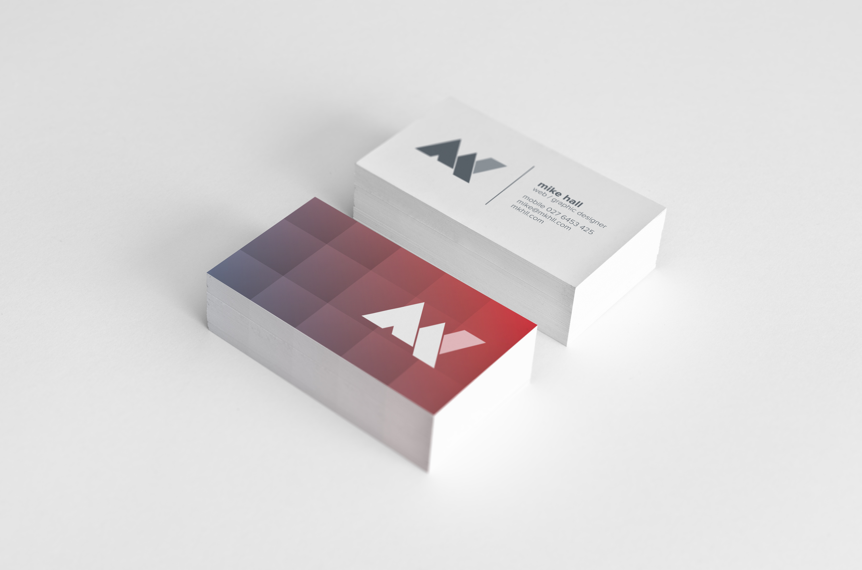 Mike Hal - minimal business cards